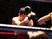 Paul Economides in Next in Line boxing show
